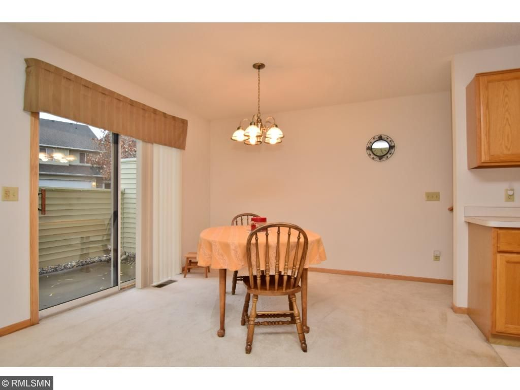 Dining room with walkout to private patio; great for grilling & relaxing!