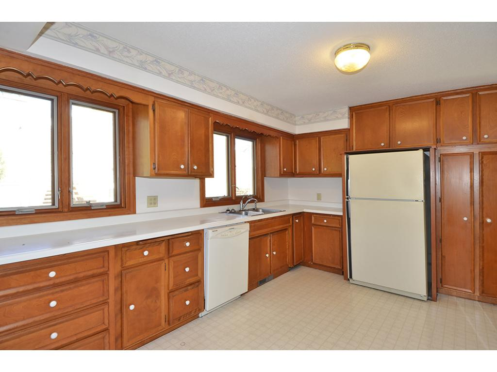 Large kitchen with plenty of cabinets