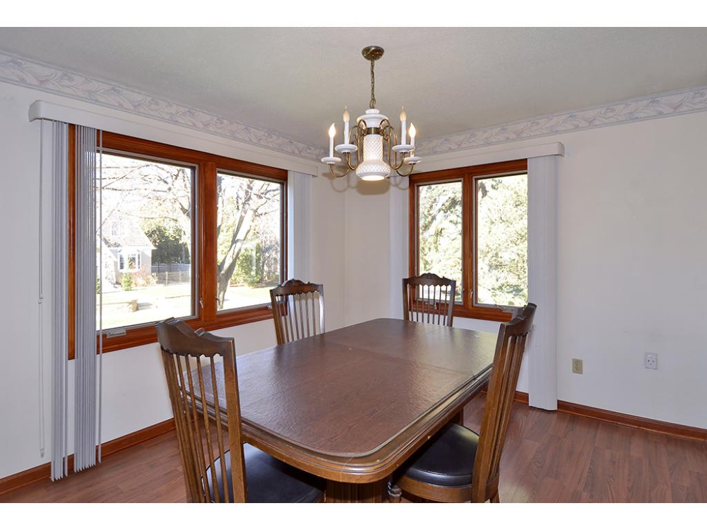 Main floor Dining area, just off kitchen and living room.