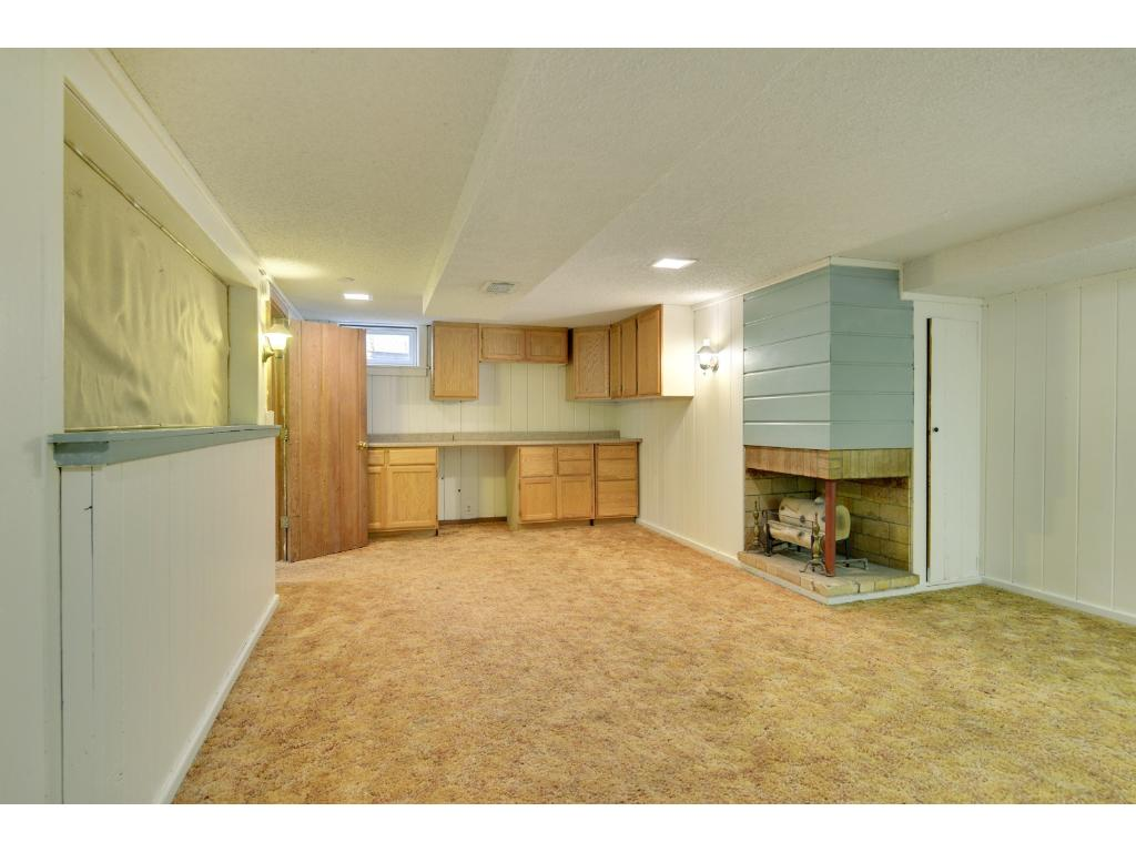 Spacious finished basement has great potential with a few upgrades.