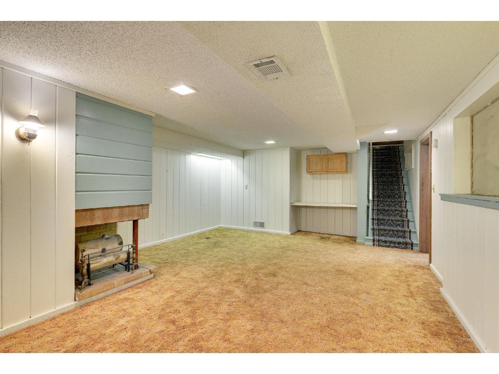 Main room in basement.