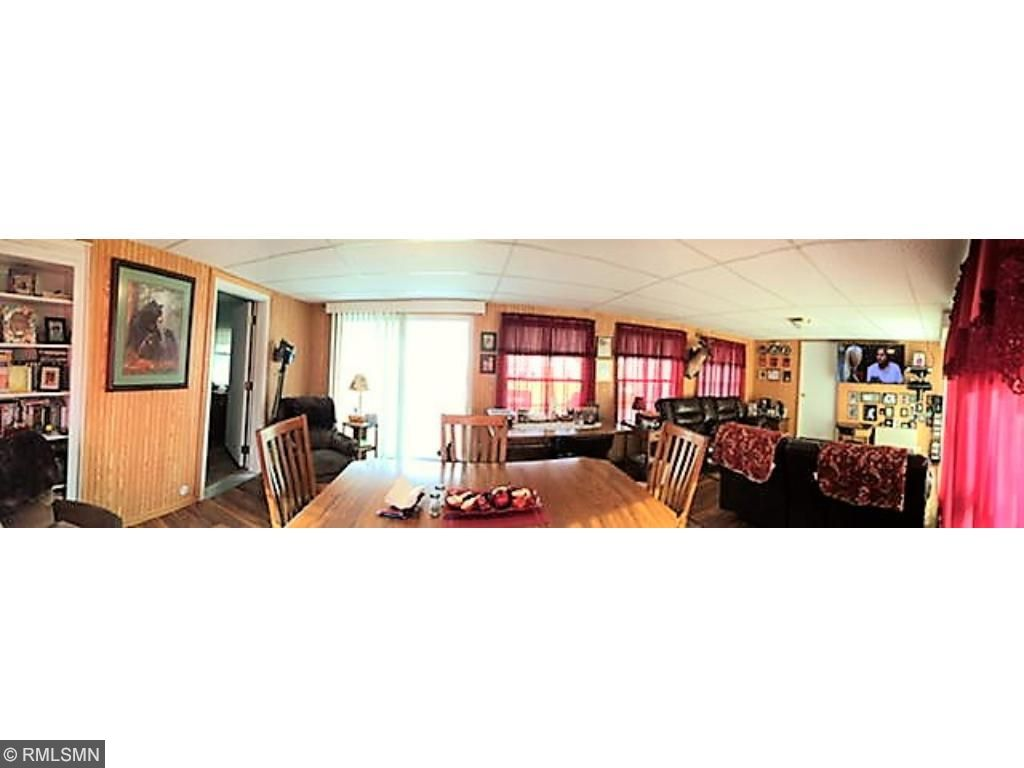A panoramic view of the sun room.