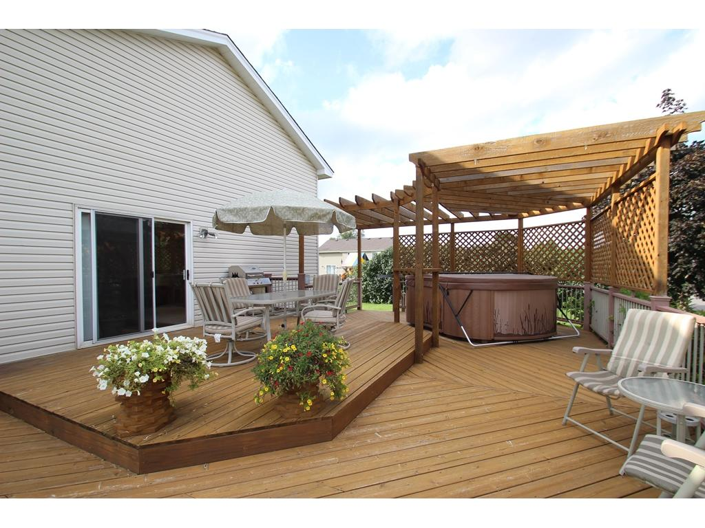 Spacious multi-level 31x18 deck with a hot tub!