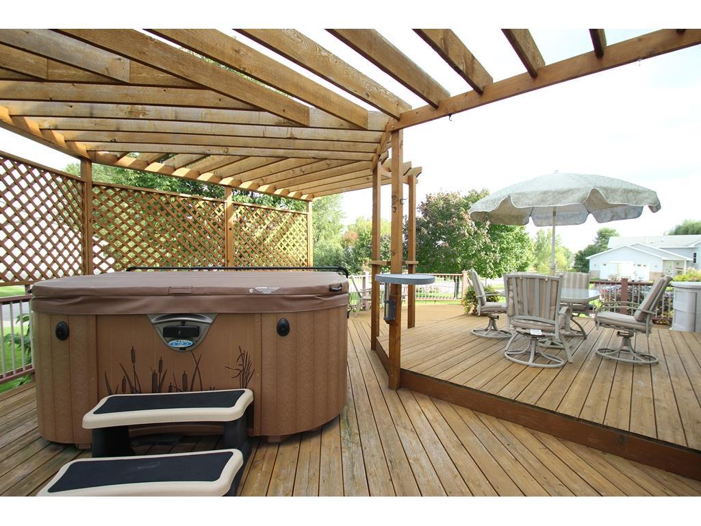 Enjoy your new deck & hot tub!
