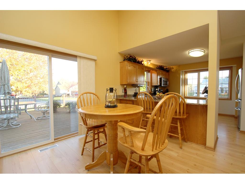 Dining area conveniently connected to the kitchen!