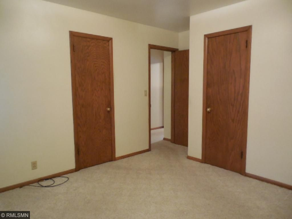 Master bedroom comes with his and hers closets.