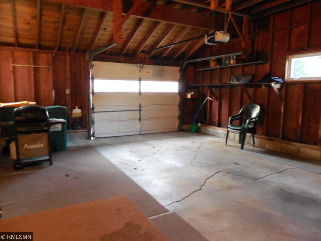 Oversized attached garage.