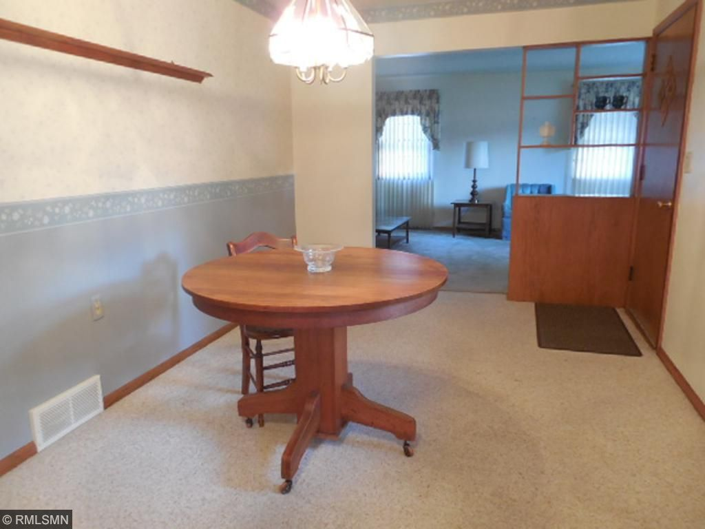 Big dining room has plenty of room for your favorite table and chairs.