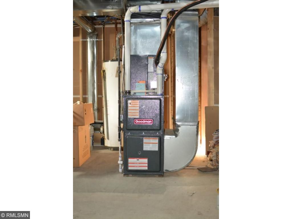 Brand new furnace and air conditioner.