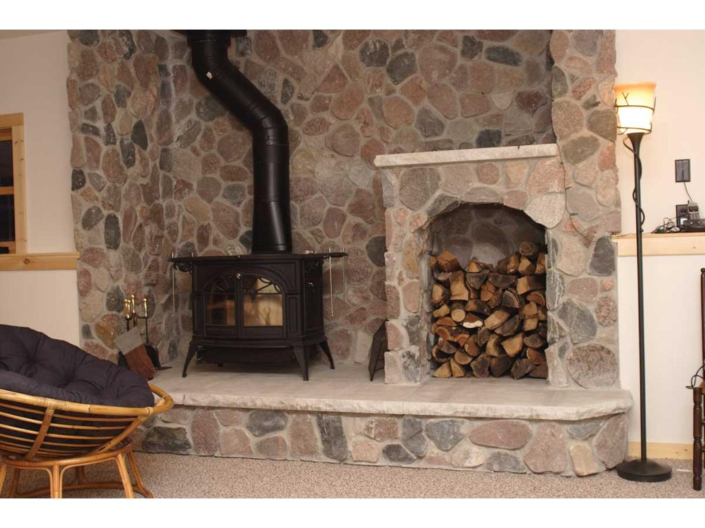 Downstairs wood burning stove!