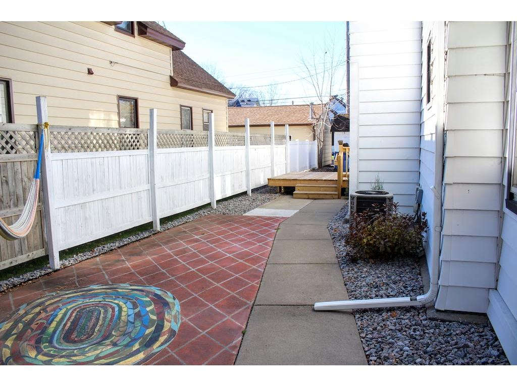 Tile patio and deck.
