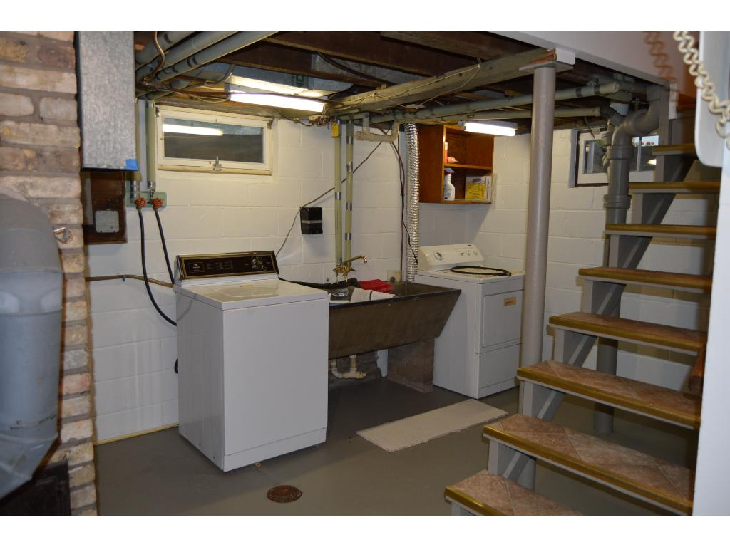 Lower level laundry and utilities.