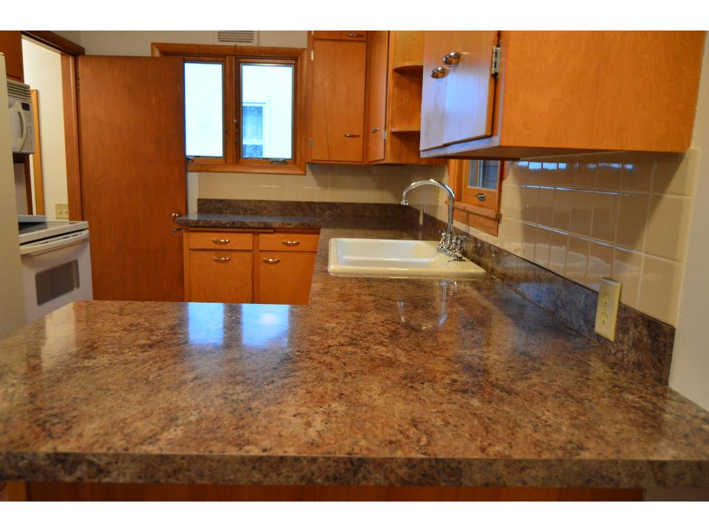 Beautiful counter tops with new sink & faucet.