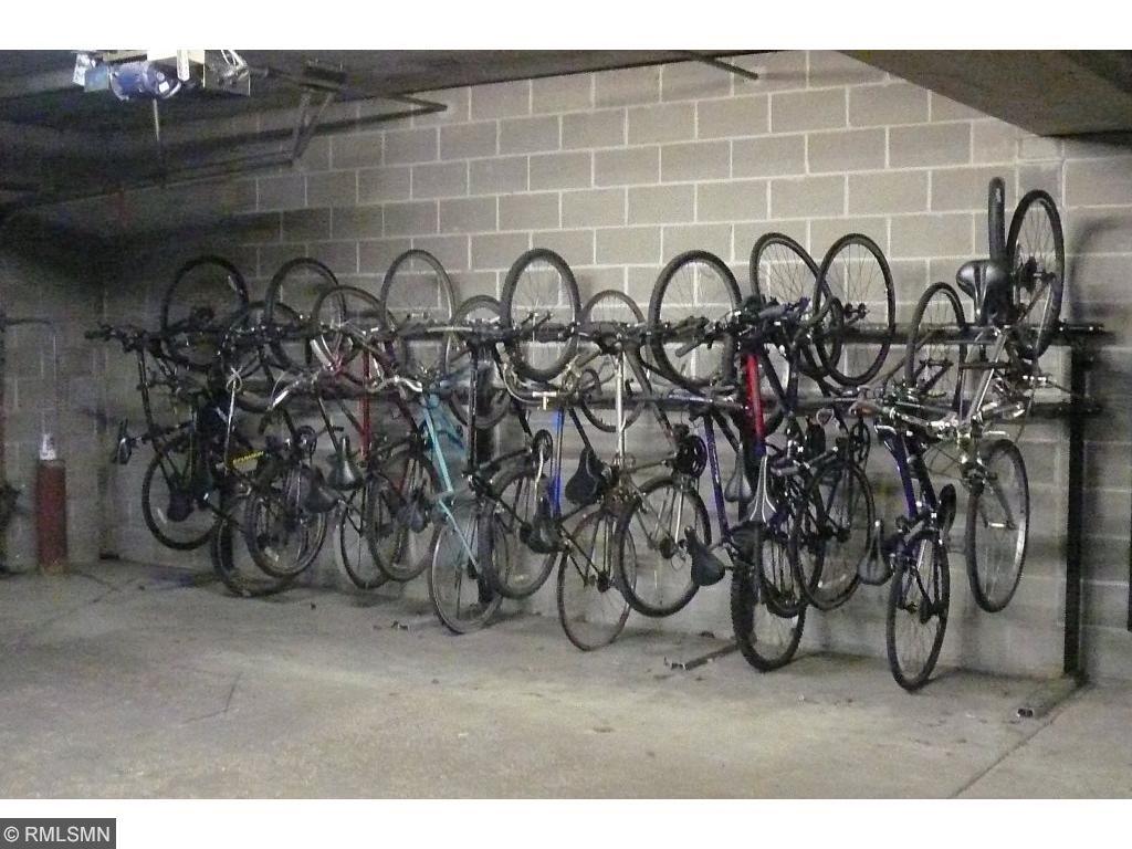 Lots of people use the bicycle storage racks