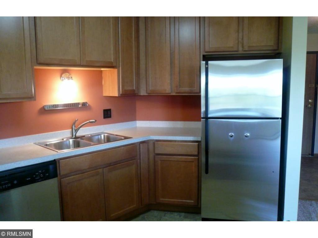 Efficient kitchen includes all appliances.