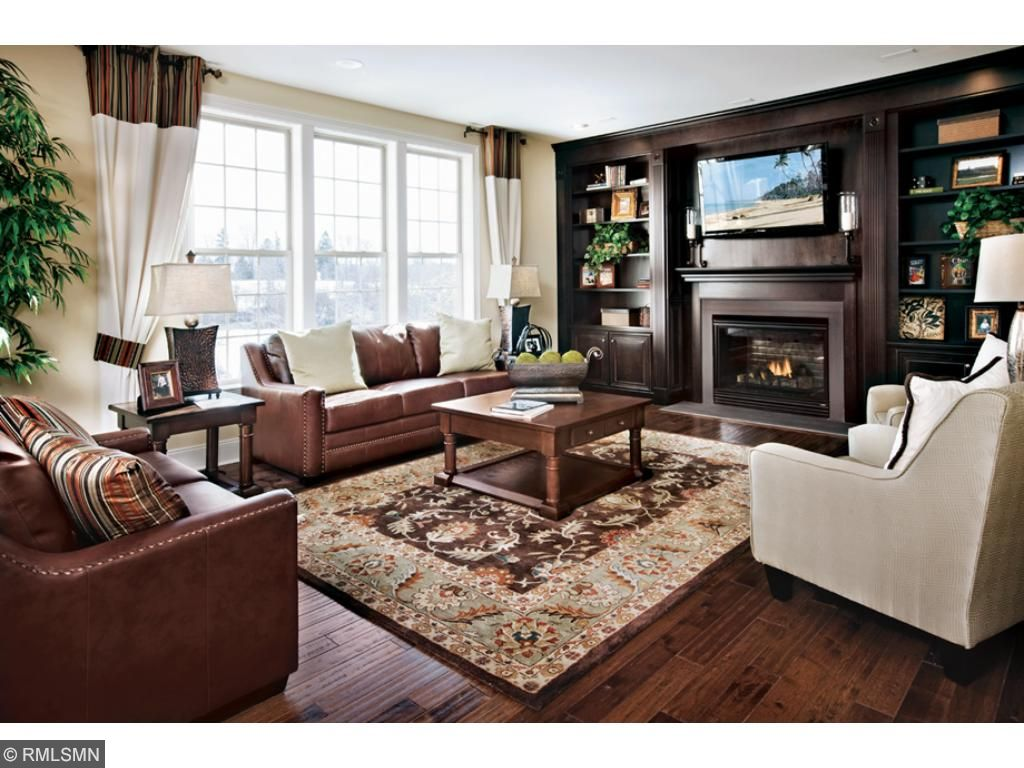 Stansbury family room, design selections available. Does not come standard with built-ins.