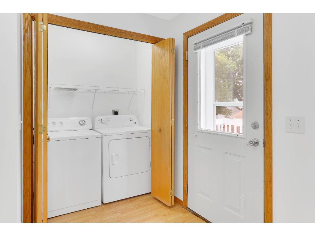 main level laundry with doors.