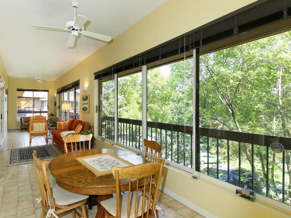 Enjoy watching the birds and nature from the fabulous 3 season porch.