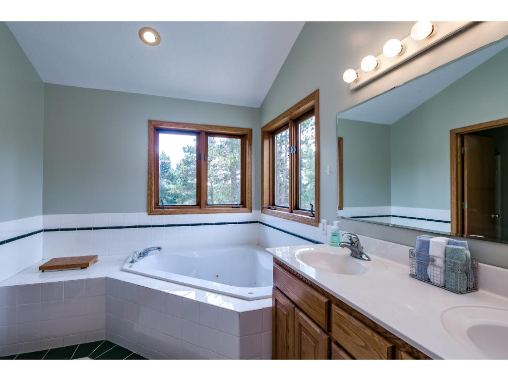 Large Master Bath with corner tub!A great place for R & R!