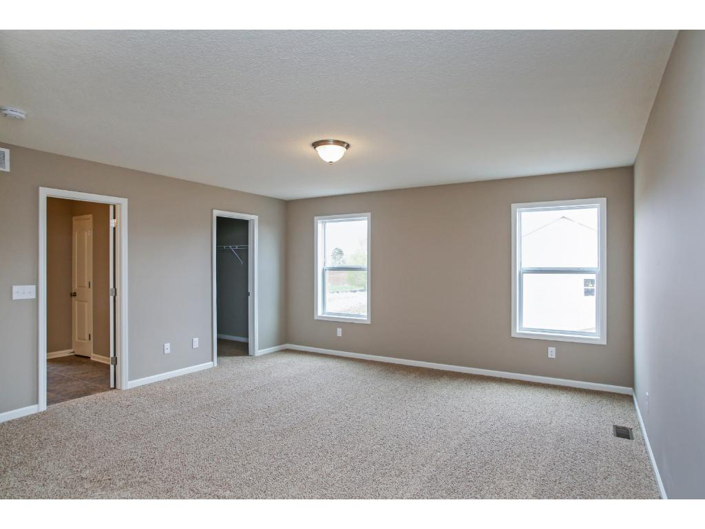 Large owners suite with private bath and walk-in closet