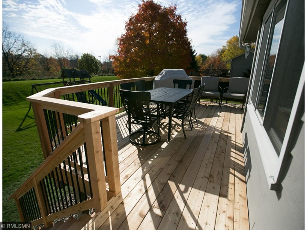 Enjoy a hot cider out on this deck before the season totally changes!