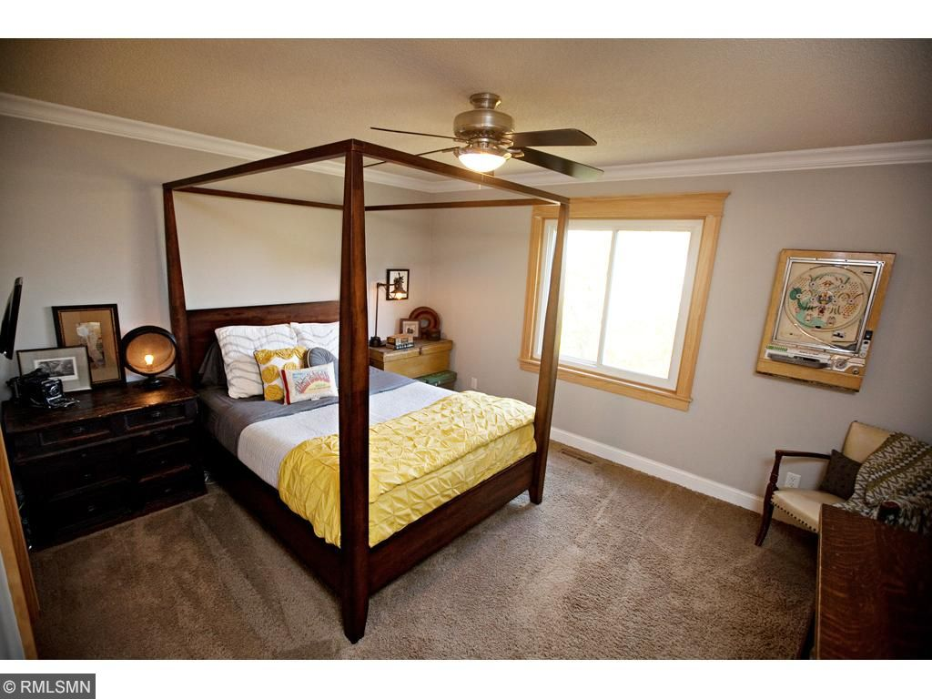 Spacious master, with walk-through to the bathroom and a large walk-in closet.
