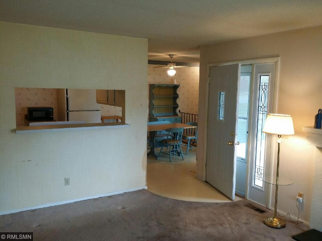 Living room to kitchen/dining area
