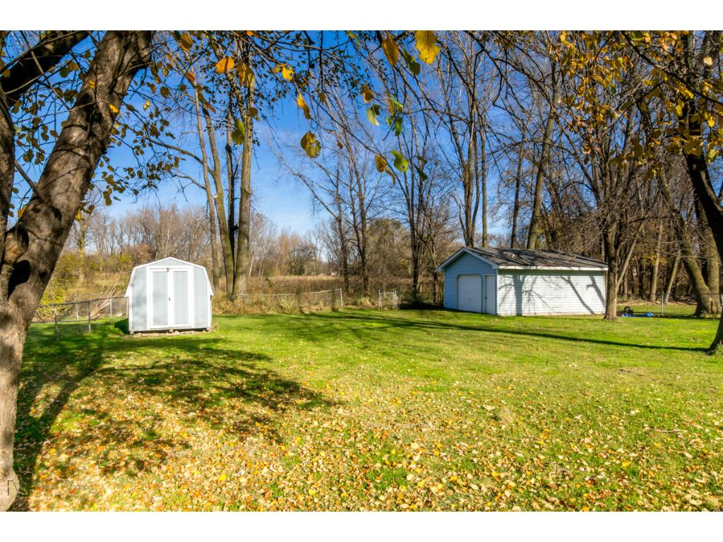 Over sized detached garage and storage shed
