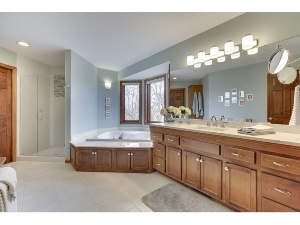 Fabulous master bathroom with a huge walk-in closet