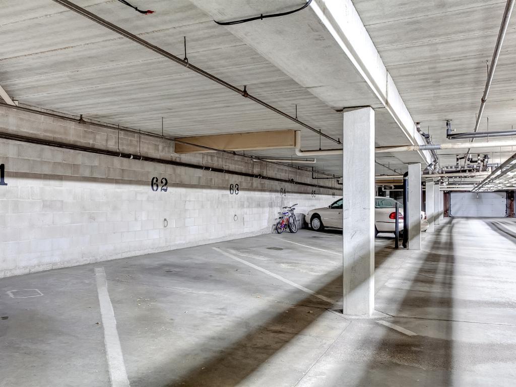 Underground heated parking space!