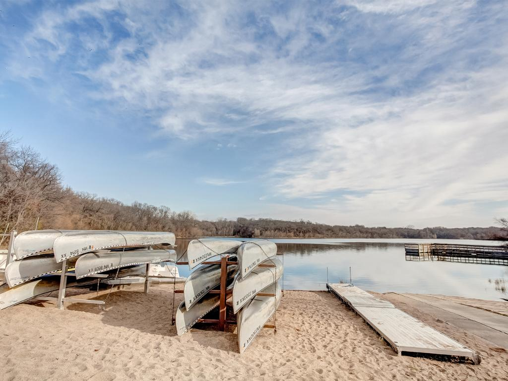 Hyland Park just across the street offers canoe and paddle boat rental!