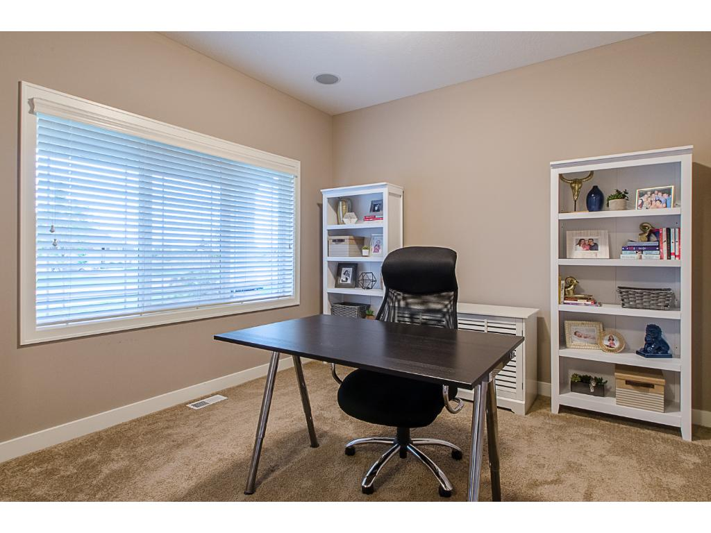 The main floor office is great for the telecommuter or the family computer and homework area!
