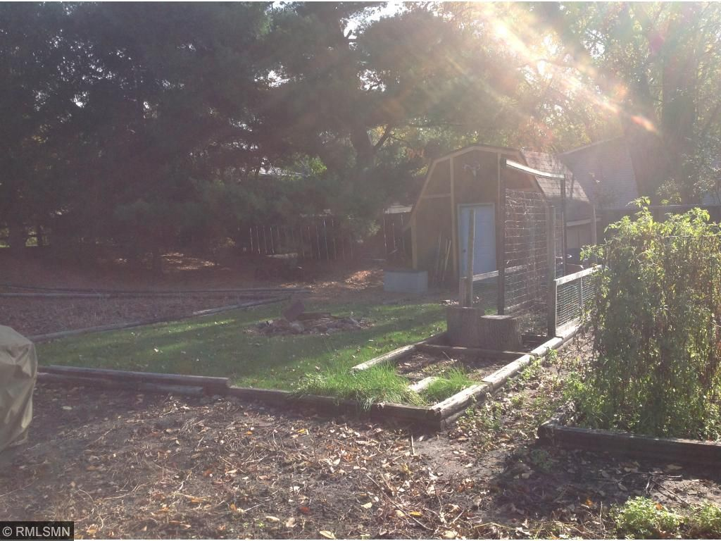 Garden barn storage.Yard front and back includes fruit trees, maples, pines, all types of grasses. Established raspberries. Seller will get a list together of what all is out here.