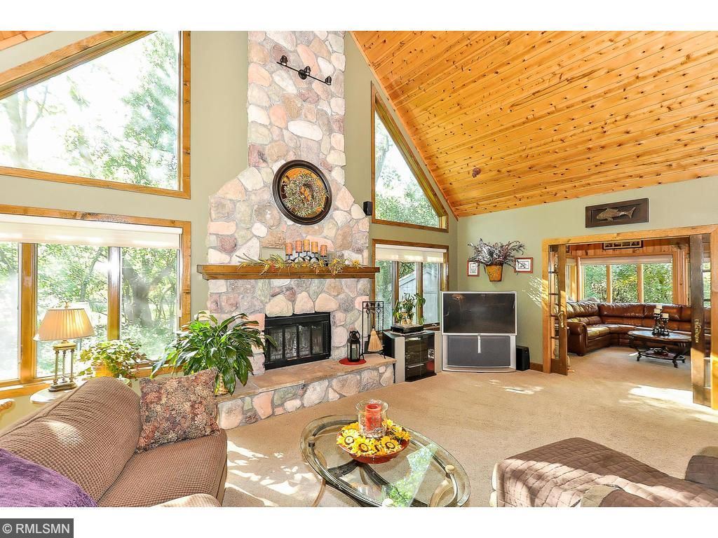 Spacious open floor plan-enjoying being Up North with out the drive. Lots of volume for a large xmas tree too...