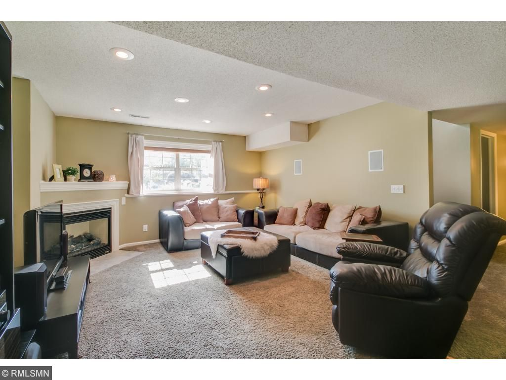 Warm and Inviting Lower Level Family Room