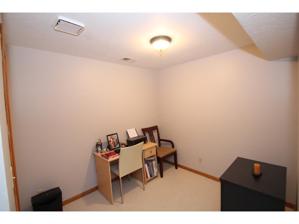 Lower level room can be used as an office or workout room.