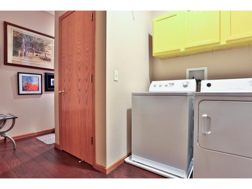 Main level laundry - both the washer and dryer stay!
