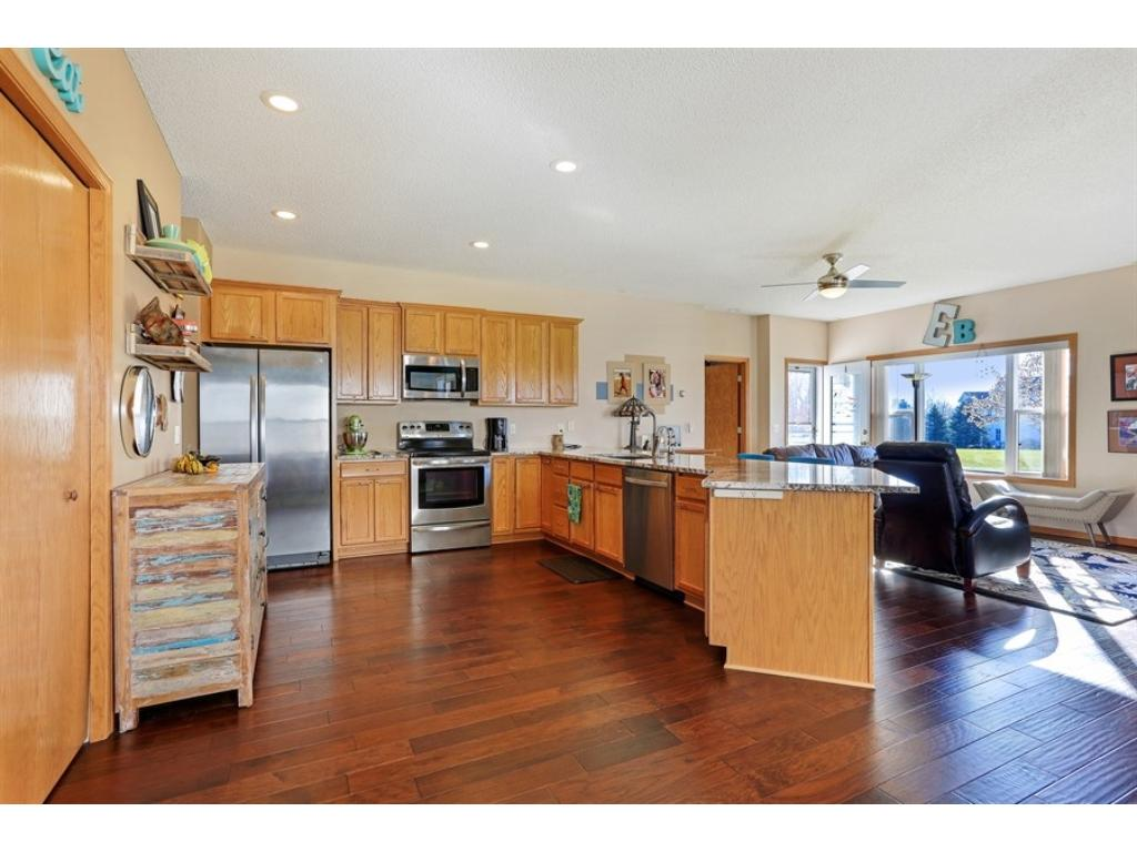 Kitchen/dining combo - great natural light - wonderful sun exposure - no neighbors behind or on the side!
