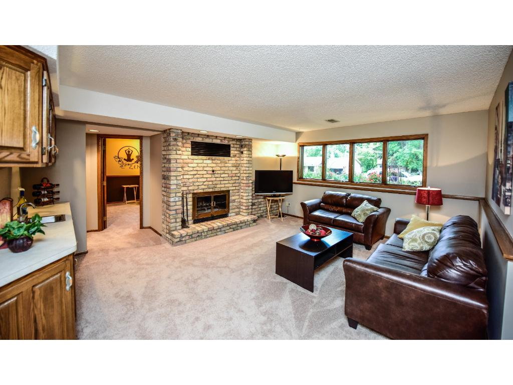 Lower level family room is just another space to relax and enjoy yourself in this home.
