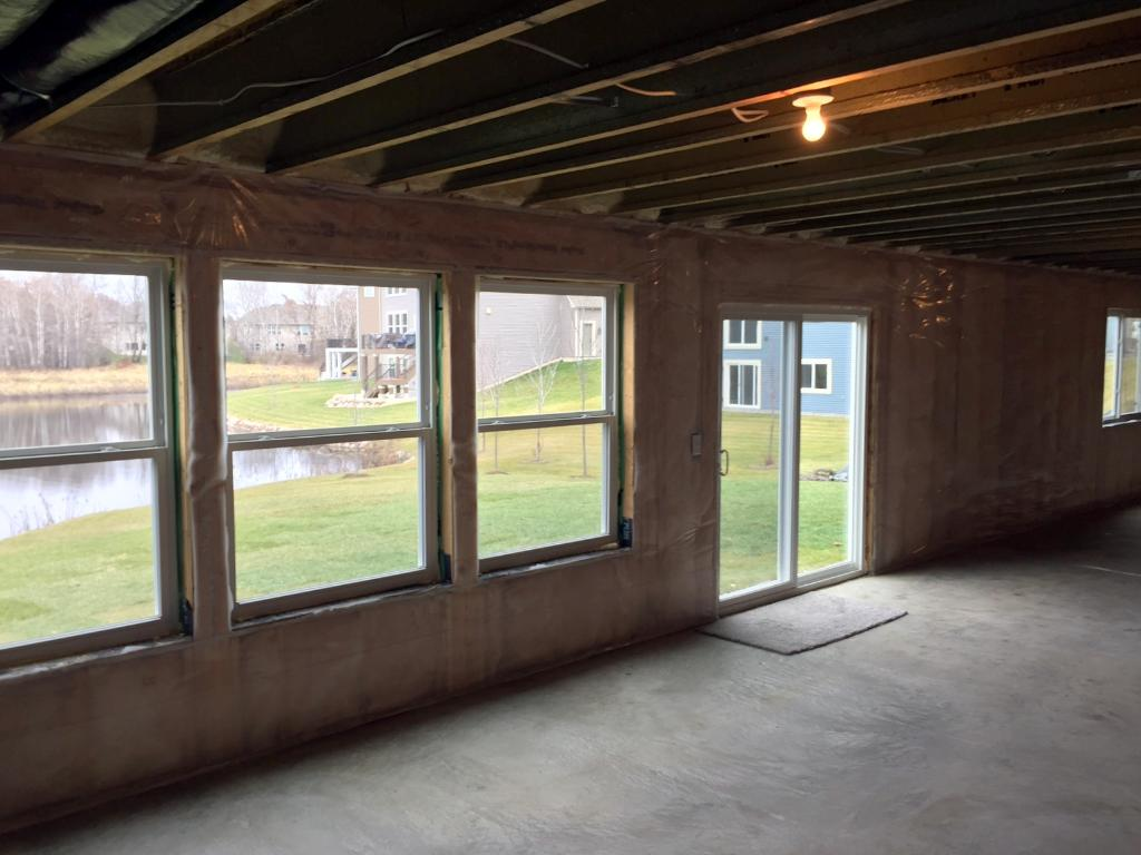 Large Windows at Walk-out Basement