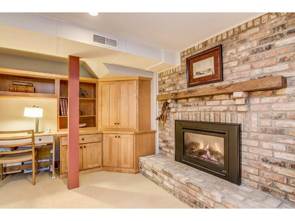 Lower level guest suite has its own gas fireplace, full bathroom and plenty of comfortable living space.
