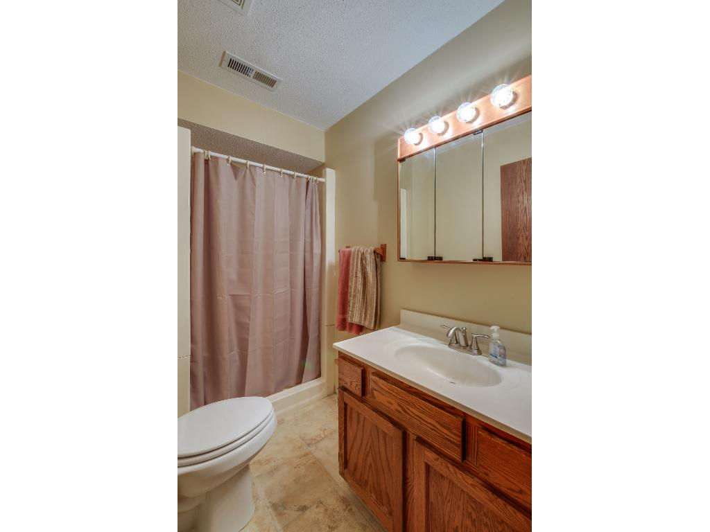 Convenient lower level bathroom with a walk-in shower!