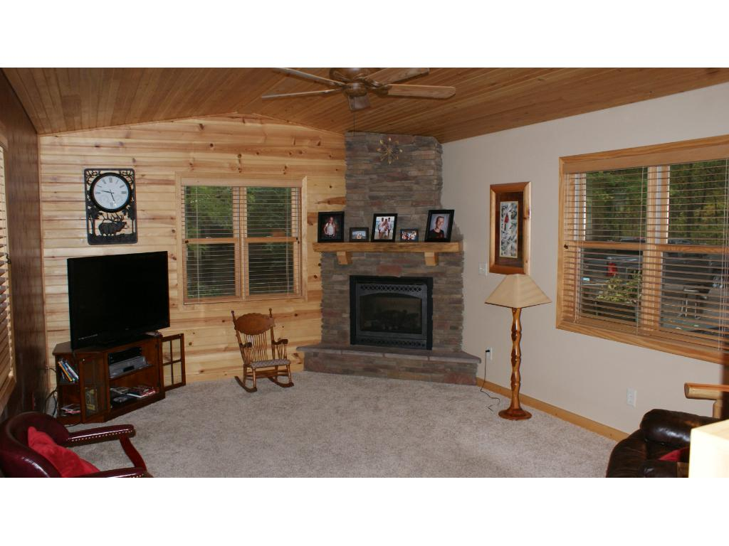 Living room with all tongue & groove pine