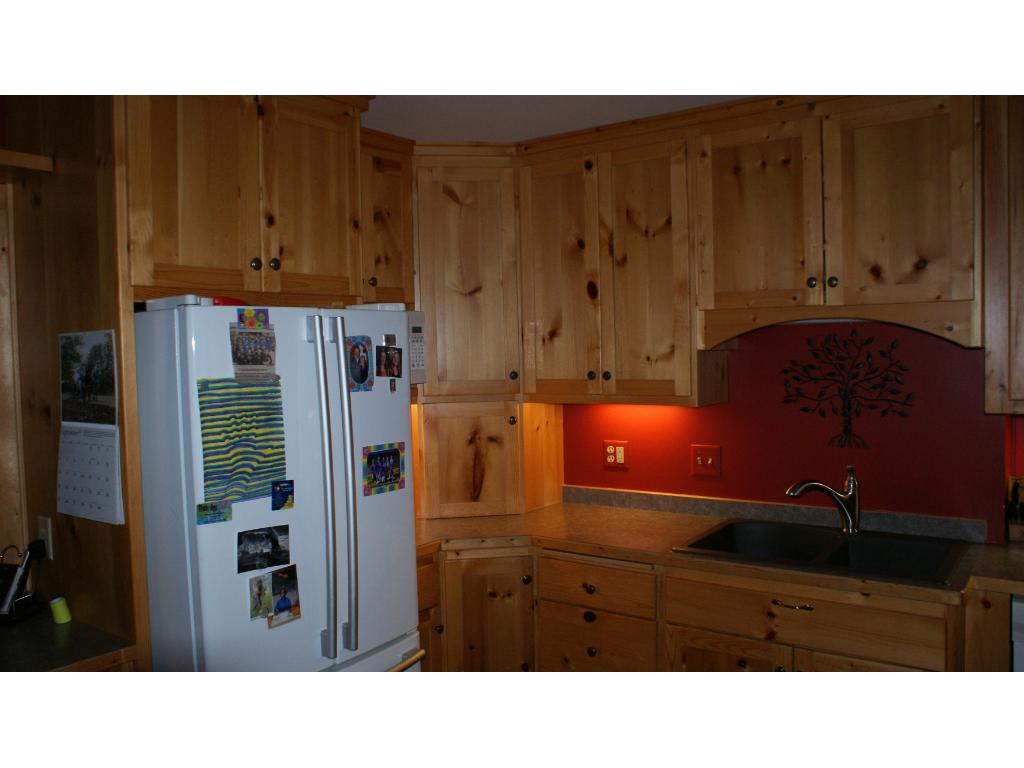 Pine cabinets in the kitchen