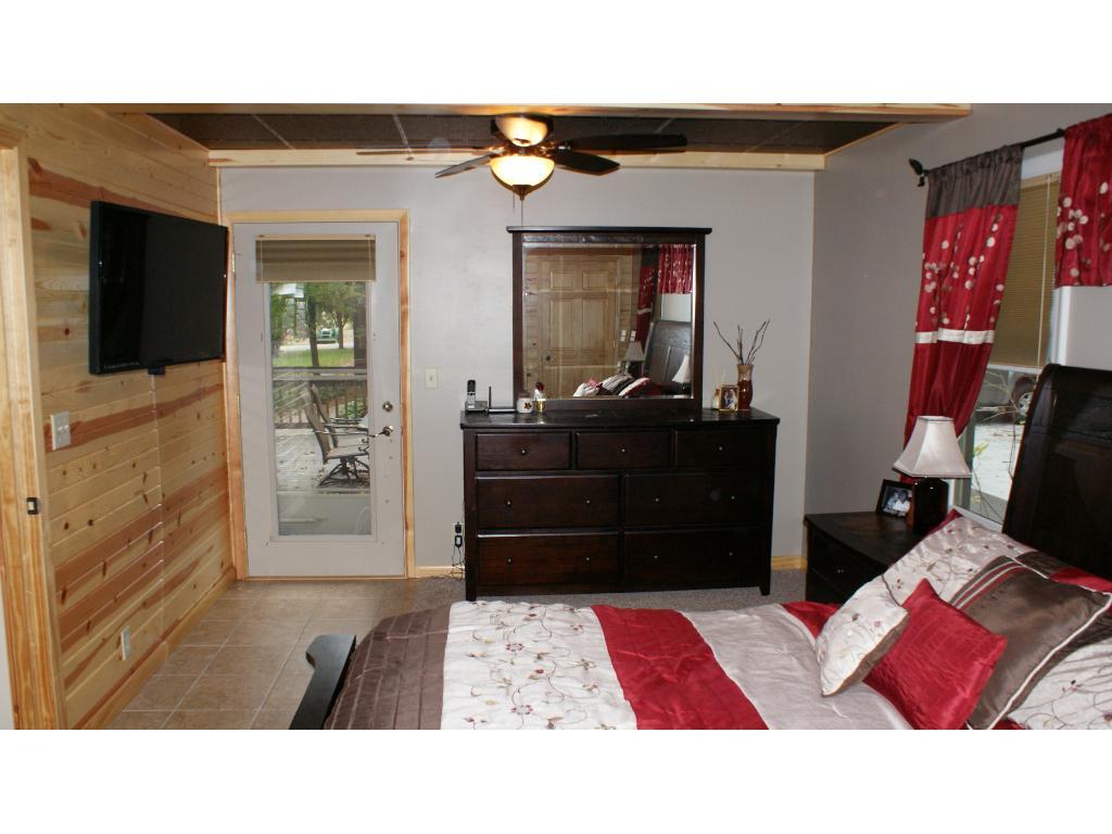 Door off the master bedroom to deck