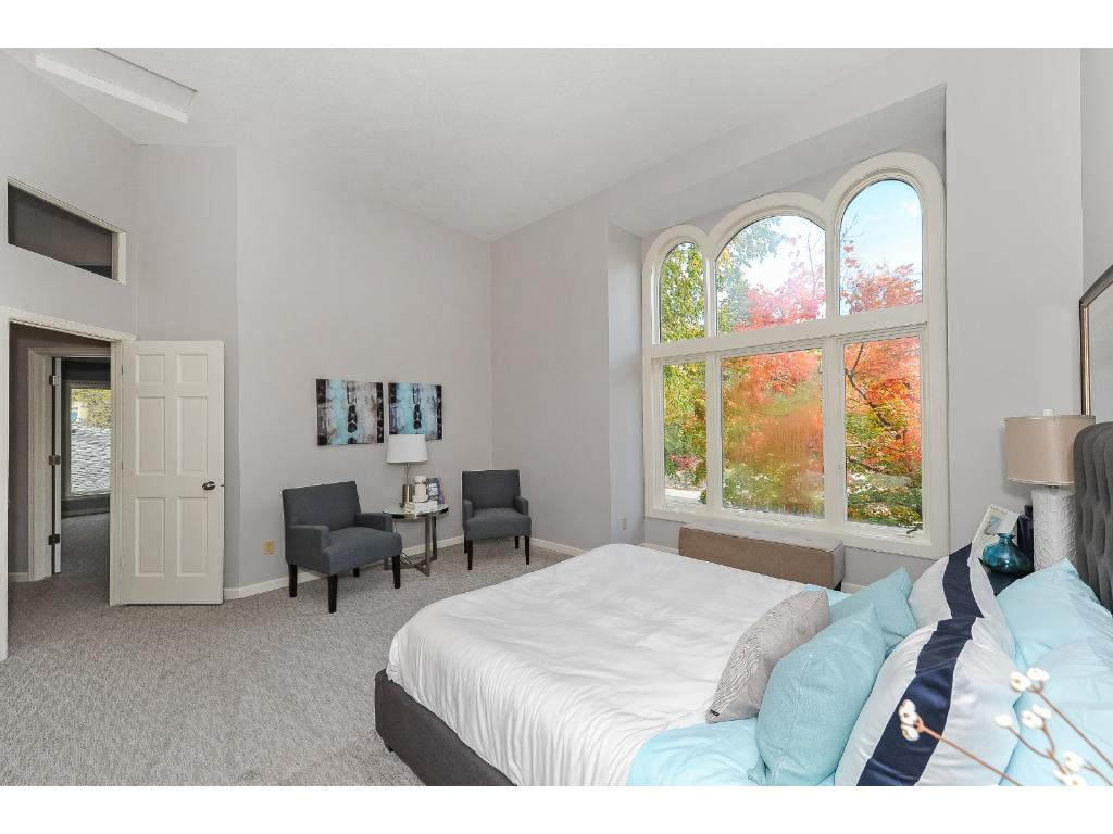 Another View of the Master Suite with Large Window and New Carpet