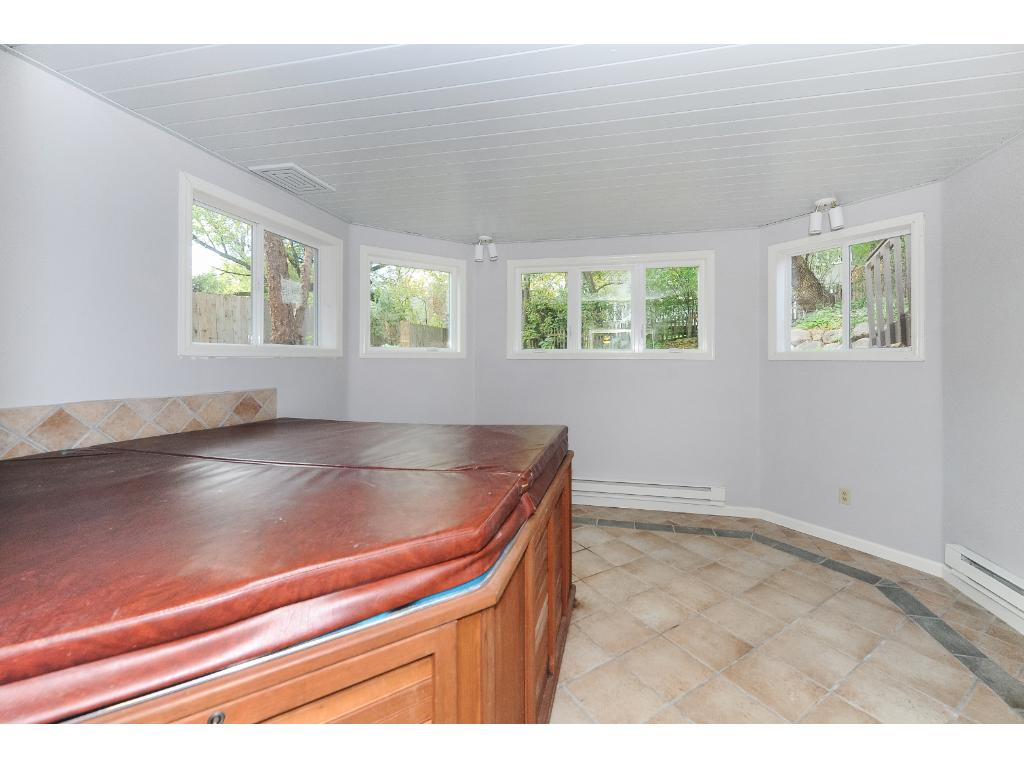 Just In Time For Winter, Indoor Hot Tub Room with New Windows Overlooking the Backyard