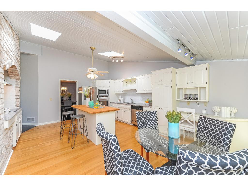 Large Newly Updated Kitchen with Stainless Appliances.