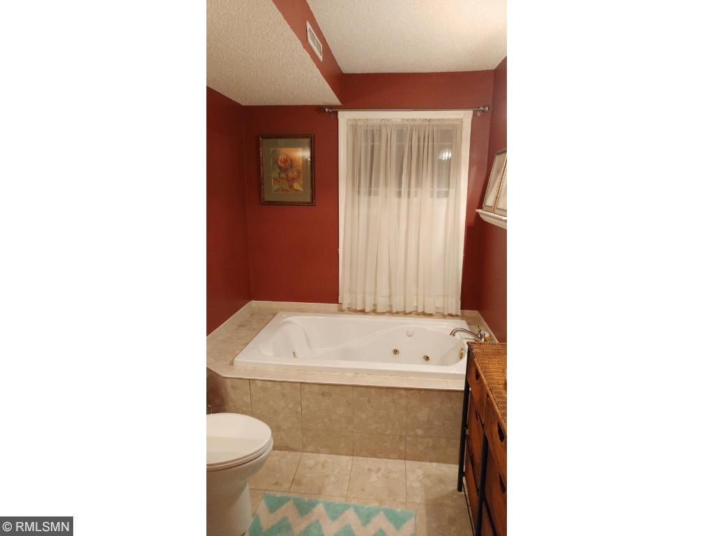 Lower level bathroom with whirlpool tub.