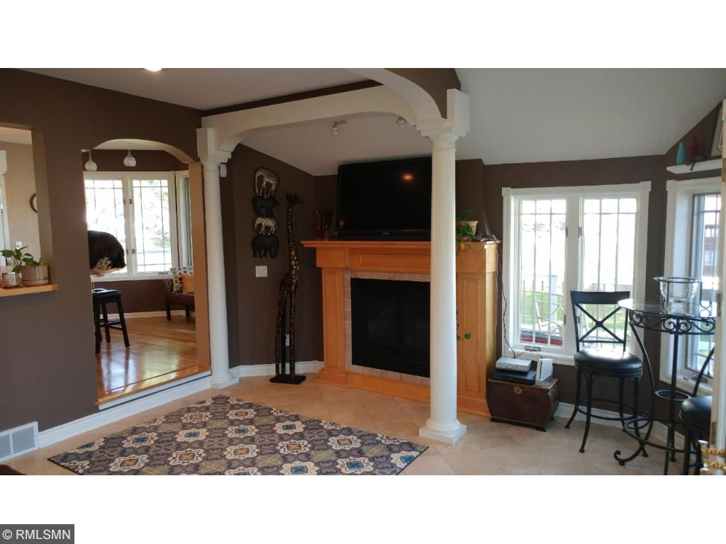 Spend time in the family room with a gas fireplace to keep you warm on cold winter days.